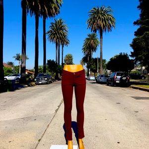 Zara Z1975 Maroon Skinny Jeans size 5